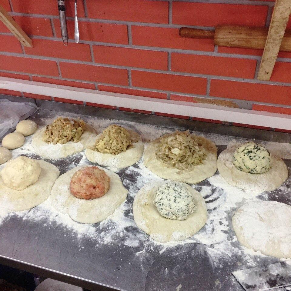 Осетинские пироги поэтапно