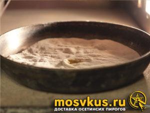 осетинский пирог Уалибах с сыром рецепт пошагово с фото