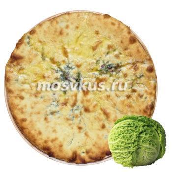 Пирог с капустой Кабускаджын (постный)
