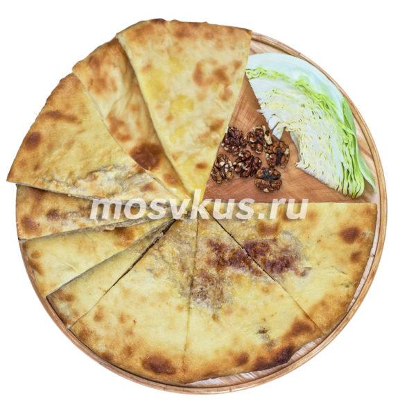 осетинский пирог с капустой и грецким орехом на заказ