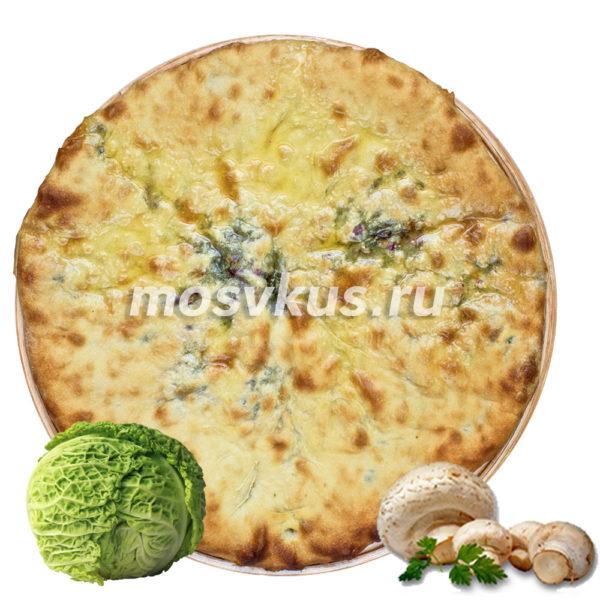 осетинский пирог с капустой и грибами