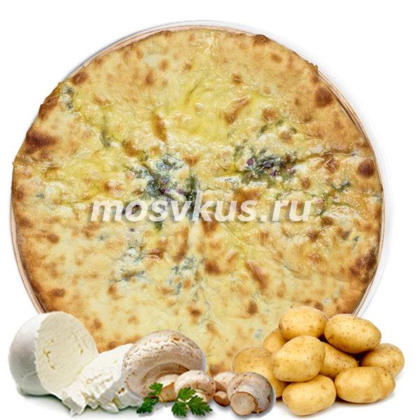 С картофелем, грибами и сыром