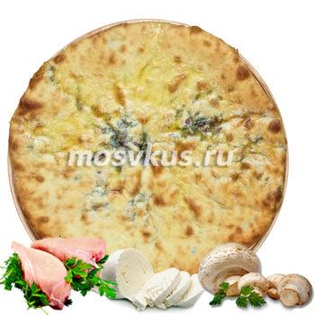 С курицей, сыром и грибами