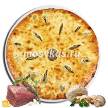 С мясом и грибами