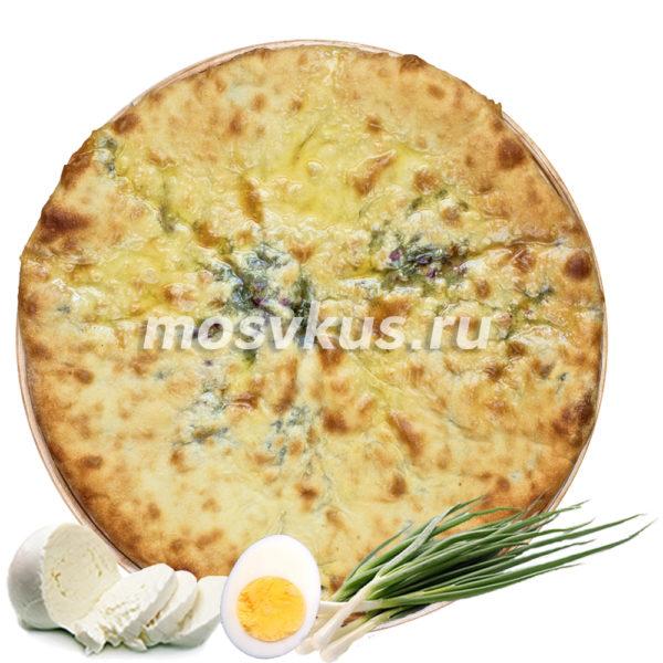 С сыром, зеленым луком и яйцом