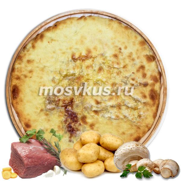 С мясом, картошкой, сыром и грибами
