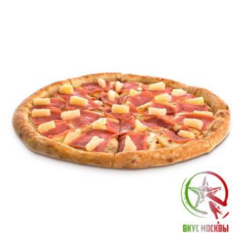 "Пицца ""Гавайская""<br/><text style=""font-size:15px; ""> пицца-соус, ветчина, ананас, моцарелла</text>"