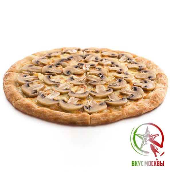 """Пицца """"Грибная""""<br/><text style=""""font-size:15px; """"> пицца-соус, нежная ветчина, репчатый лук, шампиньоны, томаты, моцарелла</text>"""