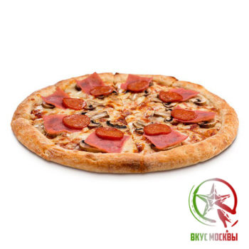 "Пицца ""Классика""<br/><text style=""font-size:15px; ""> пицца-соус, ветчина, пепперони, шампиньоны, сыры парамезан и моцарелла</text>"