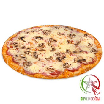 "Пицца ""Ветчина с грибами""<br/><text style=""font-size:15px; ""> пицца-соус, ветчина, шампиньоны, сыр моцарелла</text>"