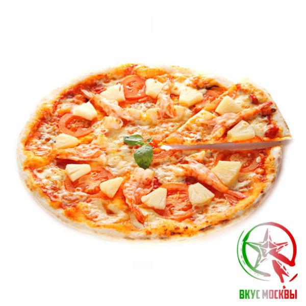 "Пицца ""Эби Пицца""<br/> с креветками<br/><text style=""font-size:15px; ""> пицца-соус, репчатый лук, зеленый перец, маслины, креветки, моцарелла</text>"